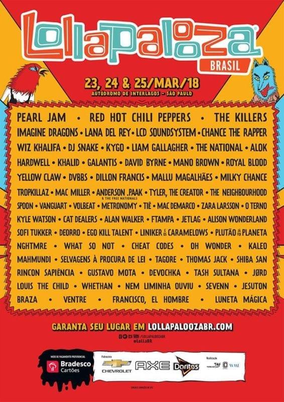 Lollapalooza 2018 Brasil