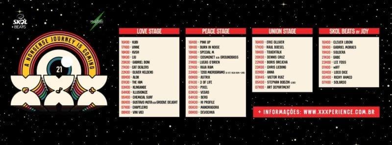 palco da XXXperience 2017