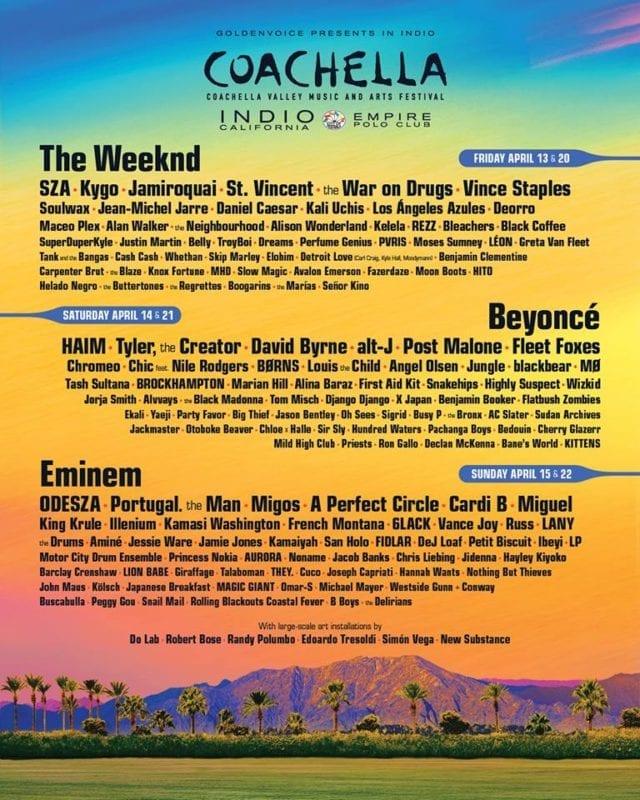 line up do Coachella 2018