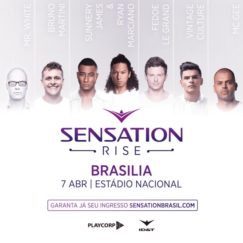 line up da Sensation Brasília