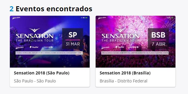 Sensation em BH cancelada