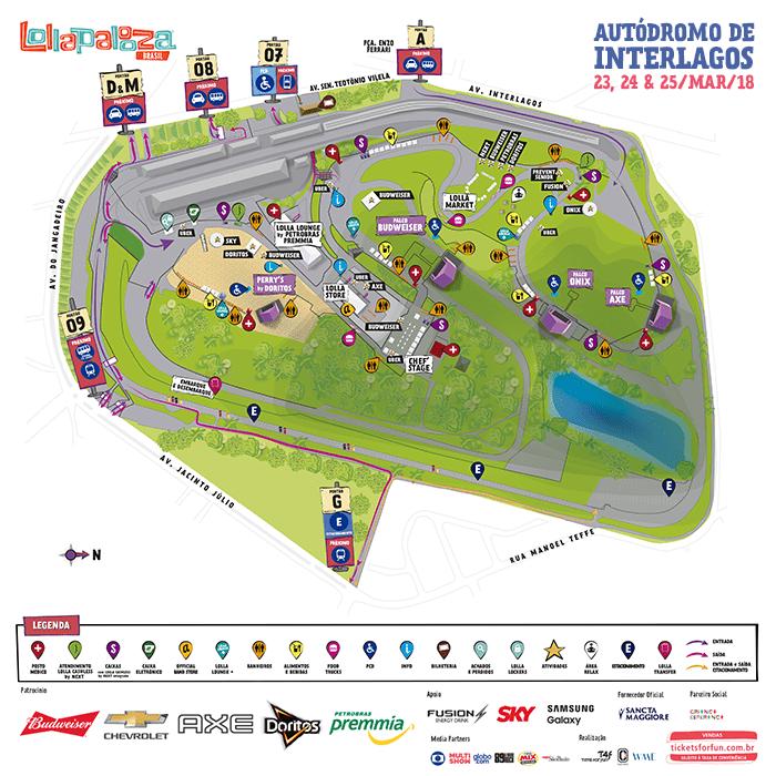 mapa do Lollapalooza