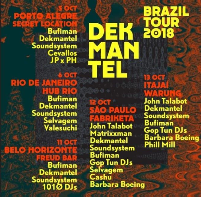 Dekmantel Brasil Tour 2018