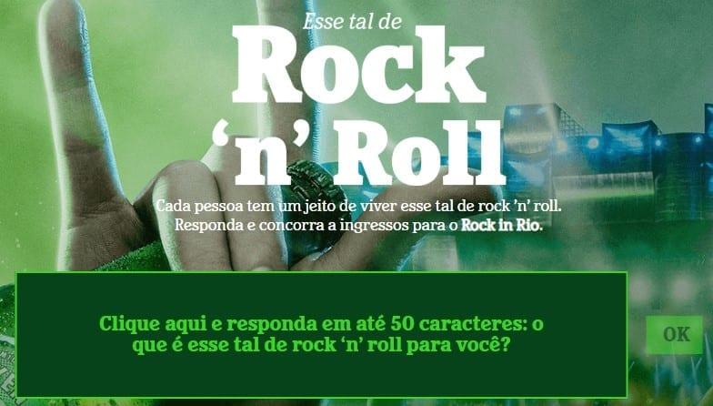 Promoção Rock in Rio