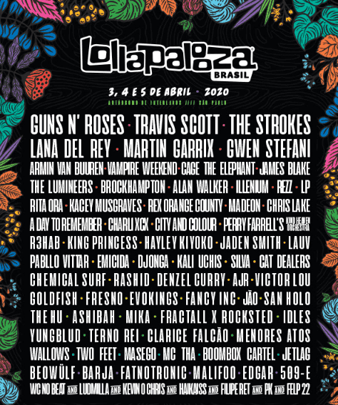 line up Lollapalooza Brasil 2020