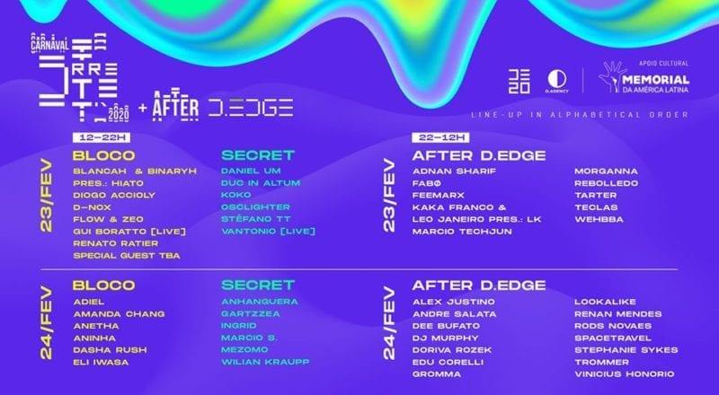 Carnaval eletrônico SP 2020