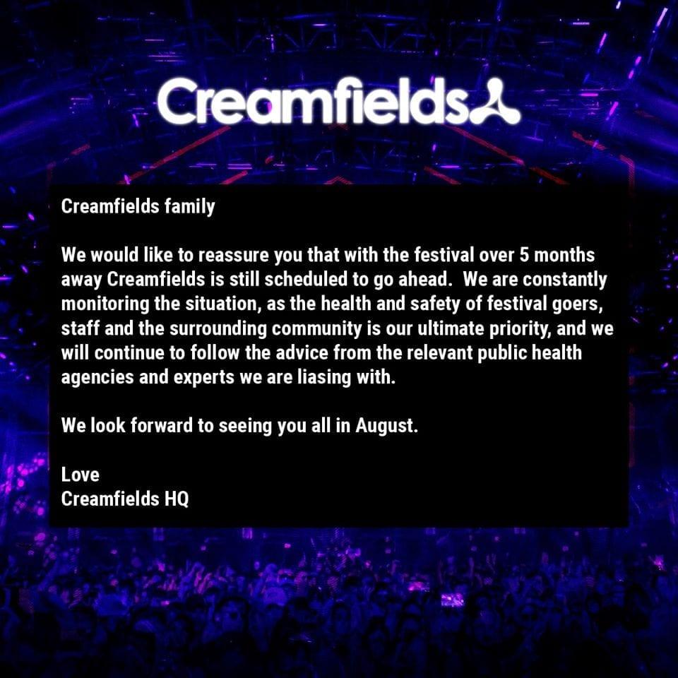 Creamfields UK line