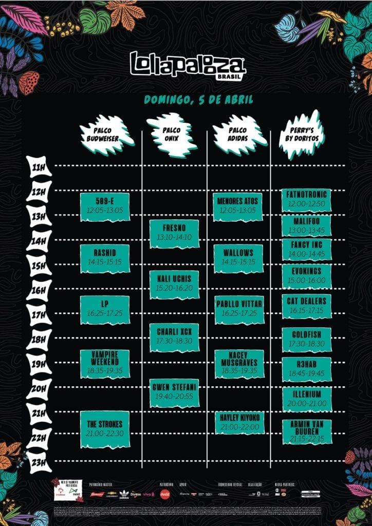 horários Lollapalooza BR 2020