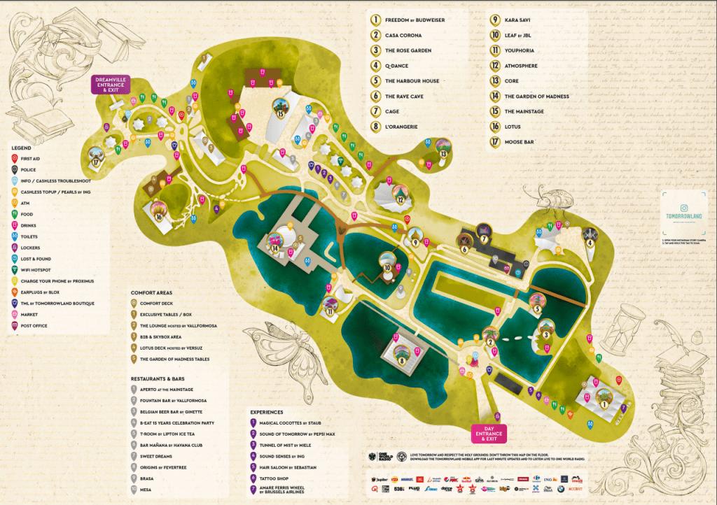 mapa tomorrowland