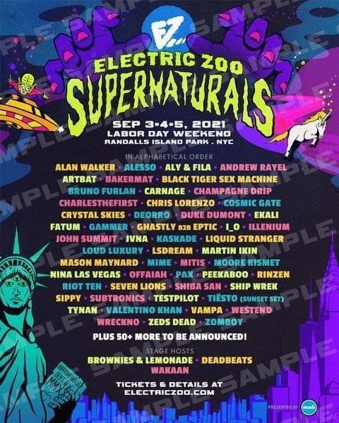 Electric Zoo line up
